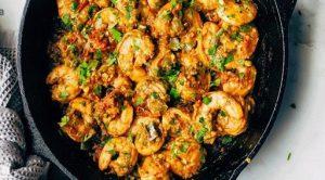 طرز پخت خوراک میگو عربی